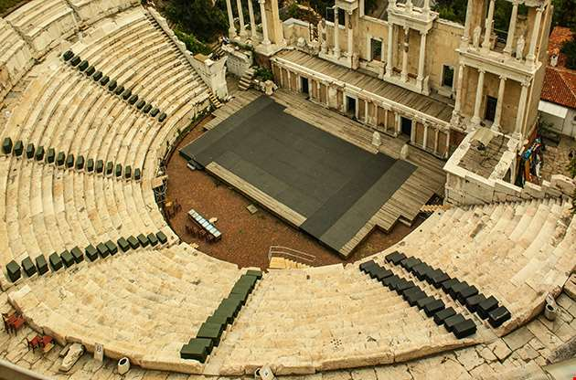 The Ancient Theatre In Plovdiv Bulgaria-The Ancient Theatre In Plovdiv Bulgaria