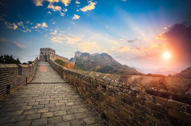 the-great-wall-sunset-The Great Wall Sunset