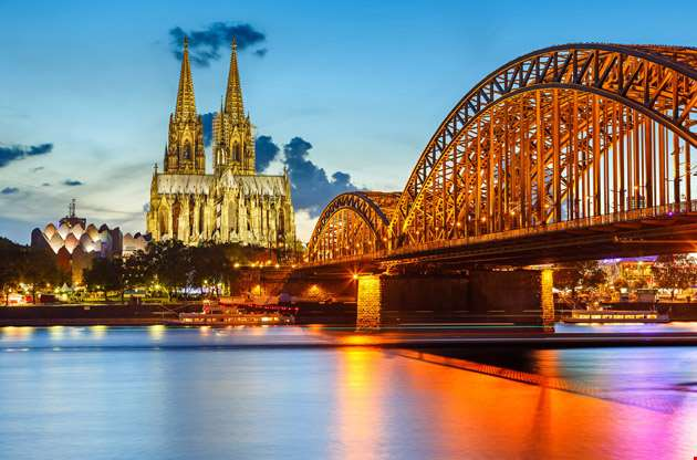 cologne-cathedral-and-hohenzollern-bridge-Cologne Cathedral and Hohenzollern Bridge
