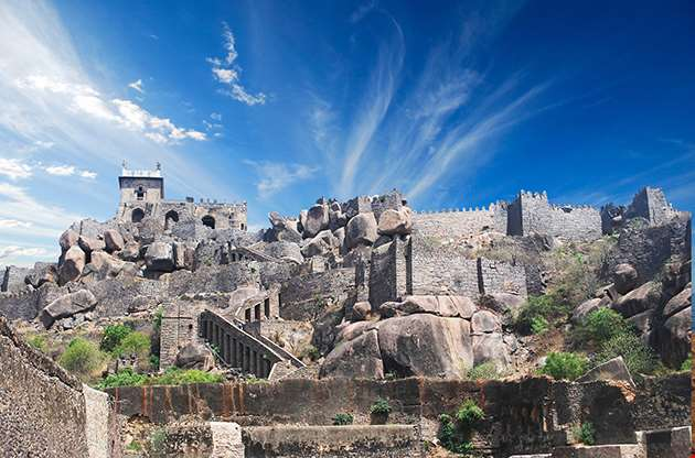 Historic Golkonda Fort In Hyderabad City India-Historic Golkonda Fort In Hyderabad City India