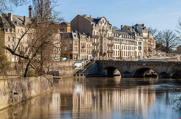 View Of Metz Town Over Moselle River-View Of Metz Town Over Moselle River