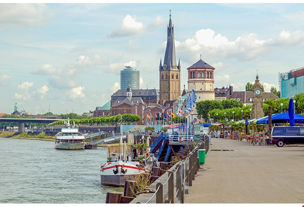 Duesseldorf Panorama With River Rhein Germany