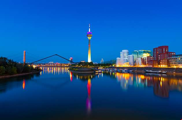 Panorama Of Dusseldorf Germany-Panorama Of Dusseldorf Germany