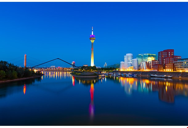 Panorama Of Dusseldorf Germany