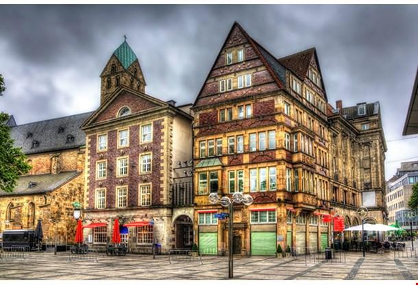 Buildings In Alter Markt Square In Dortmund Germany