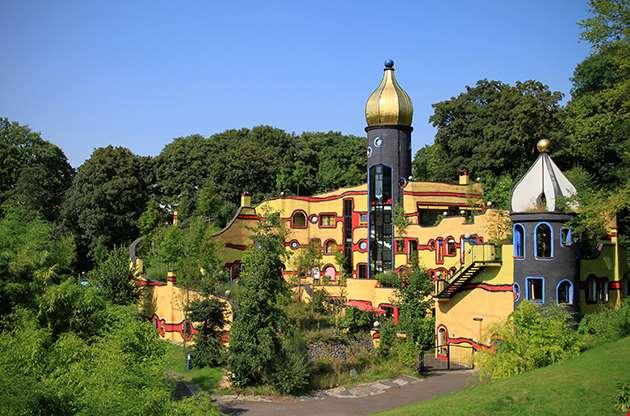 Hundertwasser House In Essen Gruga Park-Hundertwasser House In Essen Gruga Park