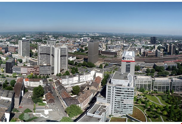 Panorama Ofthe City Center Of Essen In Germany