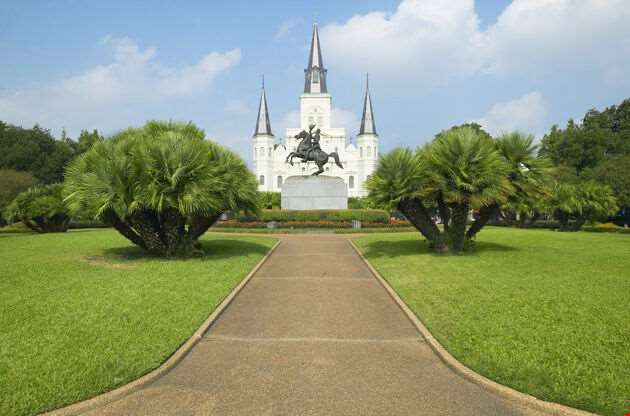 Andrew Jackson Statue St Louis Cathedral New Orleans-Andrew Jackson Statue St Louis Cathedral New Orleans