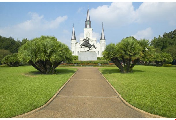 Andrew Jackson Statue St Louis Cathedral New Orleans