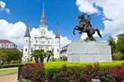Saint Louis Cathedral And Statue Of Andrew Jackson-Saint Louis Cathedral And Statue Of Andrew Jackson
