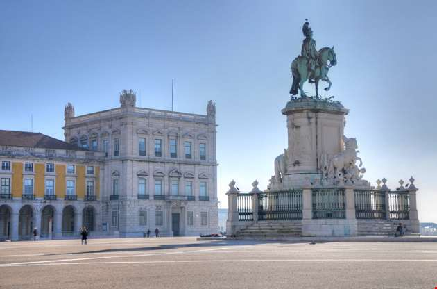commerce-square-and-statue-of-king-jose-i-lisbon-Commerce Square And Statue Of King Jose I, Lisbon