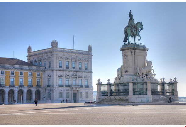Commerce Square And Statue Of King Jose I, Lisbon