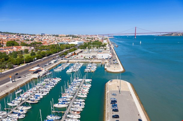 Docks On The Banks Of River Tagus