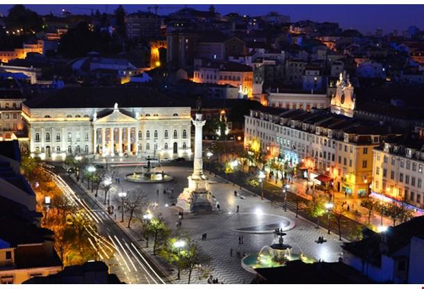 Rossio Square And Maria II Theatre