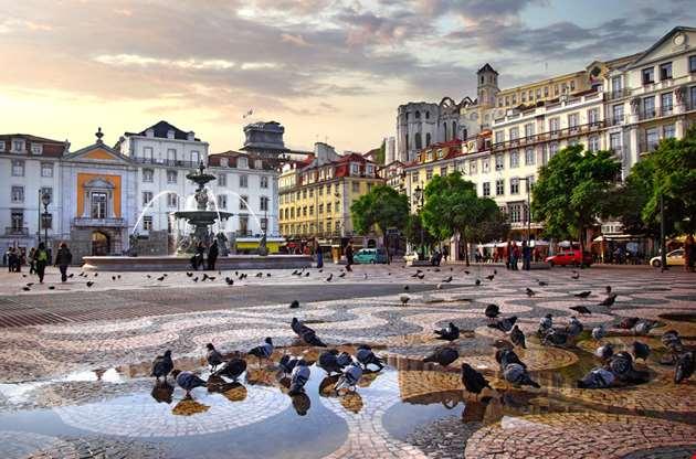 rossio-square-lisbon-portugal-Rossio Square Lisbon Portugal