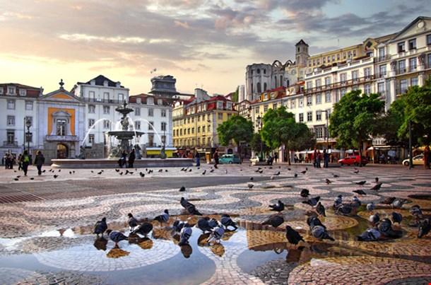 Rossio Square Lisbon Portugal