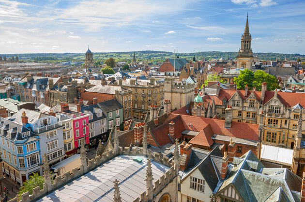 Cityscape Of Oxford England-Cityscape Of Oxford England