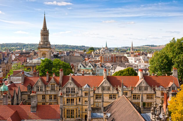 Oxford Viewed From St Mary The Virgin Church-Oxford Viewed From St Mary The Virgin Church