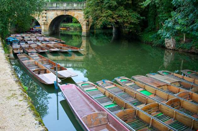 Punting In Oxford England-Punting In Oxford England