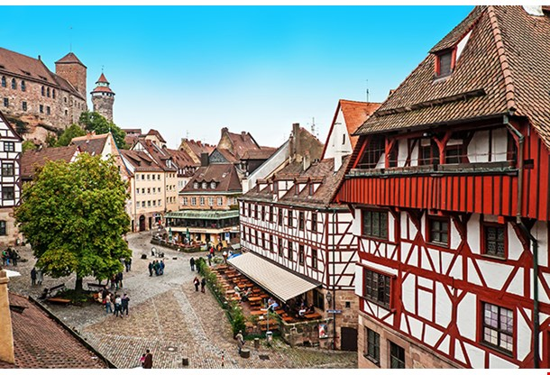 Cityscape Of Nuremberg From City Wall Germany
