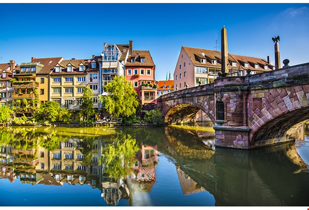Nuremberg Germany Old Town On The Pegnitz River