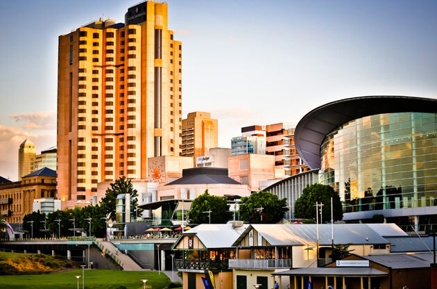 Adelaide Skyline At Sunset-Adelaide Skyline At Sunset