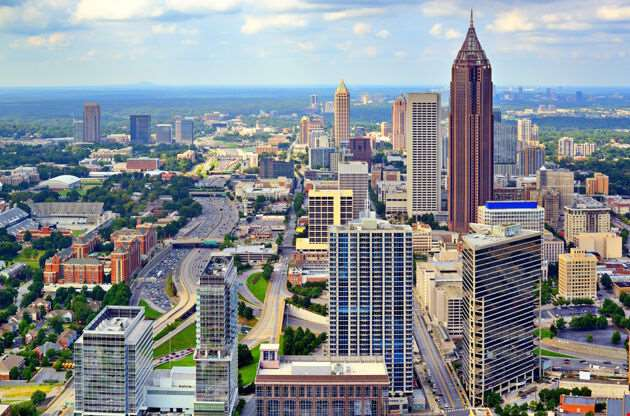 Downtown Atlanta Georgia Usa Skyline-Downtown Atlanta Georgia Usa Skyline