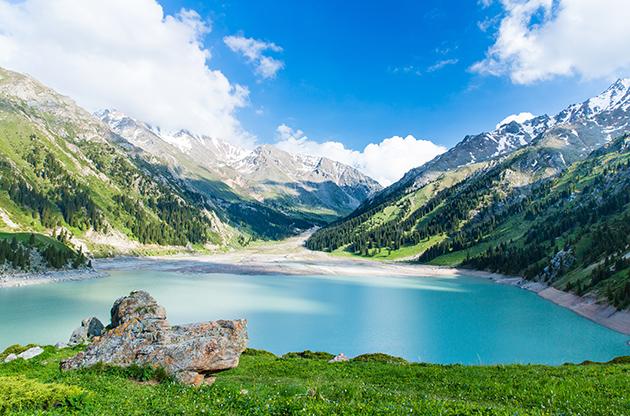 Big Almaty Lake Tien Shan Mountains In Almaty-Big Almaty Lake Tien Shan Mountains In Almaty