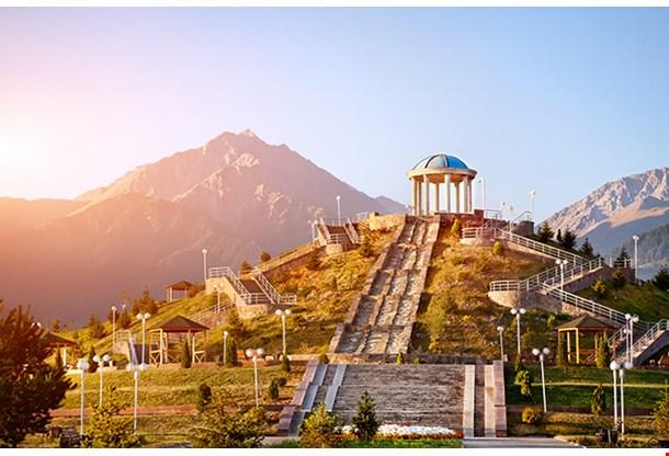 Dendra Park Of First President Nursultan Nazarbayev In Almaty Kazakhstan