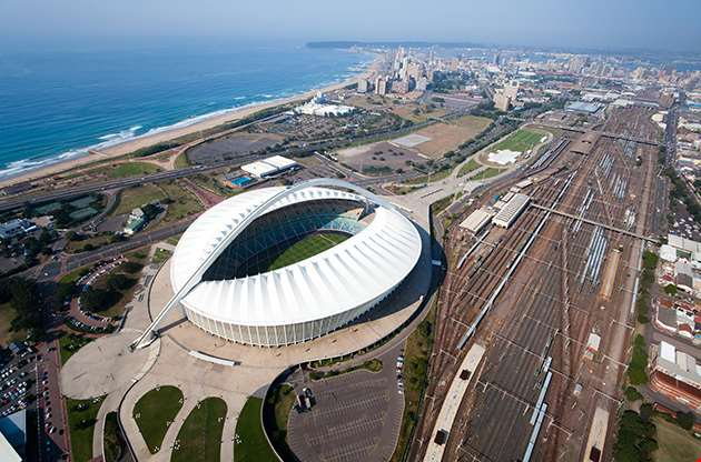 Aerial View Of Durban City South Africa-Aerial View Of Durban City South Africa