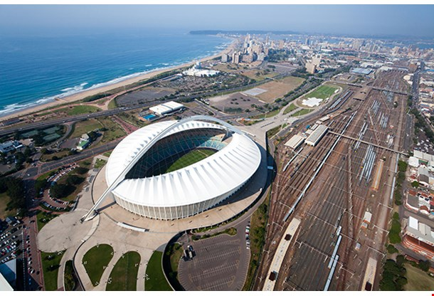 Aerial View Of Durban City South Africa