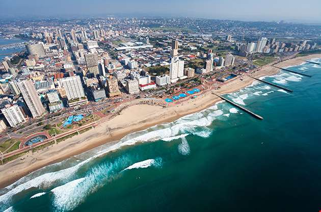 Aerial View Of Durban South Africa-Aerial View Of Durban South Africa