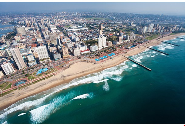 Aerial View Of Durban South Africa