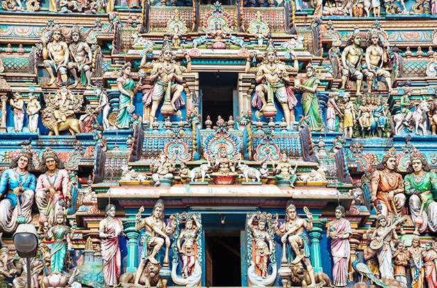 Statues Of Hindu Deities In Ancient Kapaleeshwarar Temple Chennai-Statues Of Hindu Deities In Ancient Kapaleeshwarar Temple Chennai