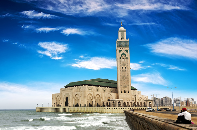 The Hassan Ii Mosque In Casablanca Morocco-The Hassan Ii Mosque In Casablanca Morocco