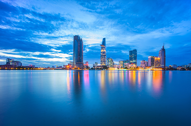 Cityscape Of Ho Chi Minh City At Beautiful Sunset-Cityscape Of Ho Chi Minh City At Beautiful Sunset