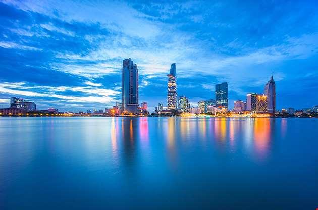 Cityscape Of Ho Chi Minh City At Beautiful Sunset-Cityscape Of Ho Chi Minh City At Beautiful Sunset
