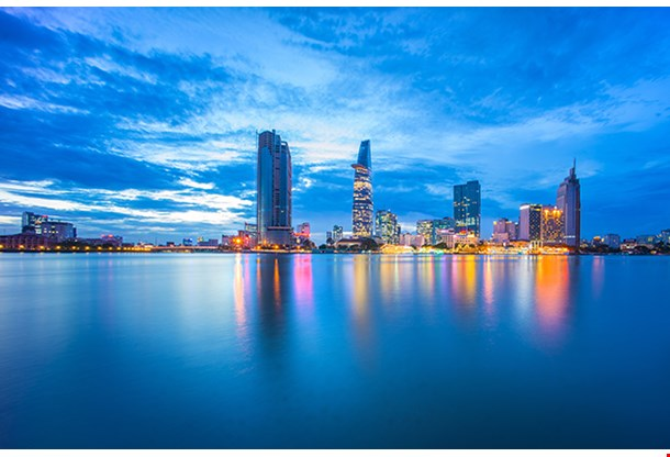 Cityscape Of Ho Chi Minh City At Beautiful Sunset