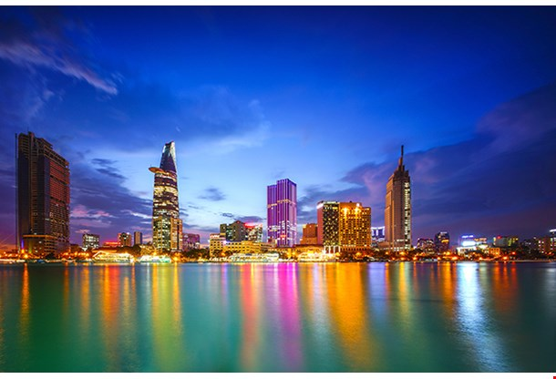 Cityscape Of Ho Chi Minh City Vietnam