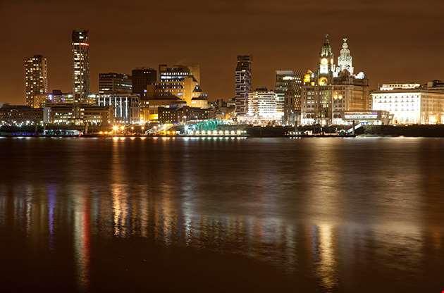 Liverpool City Centre View Merseyside England Uk-Liverpool City Centre View Merseyside England Uk