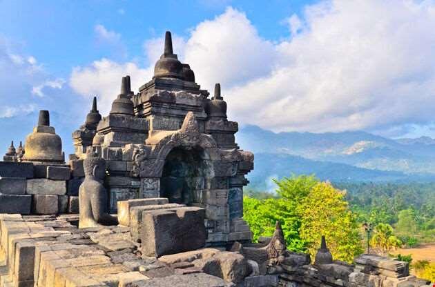 Details In Borobudur Unesco Heritage Site Java Indonesia-Details In Borobudur Unesco Heritage Site Java Indonesia
