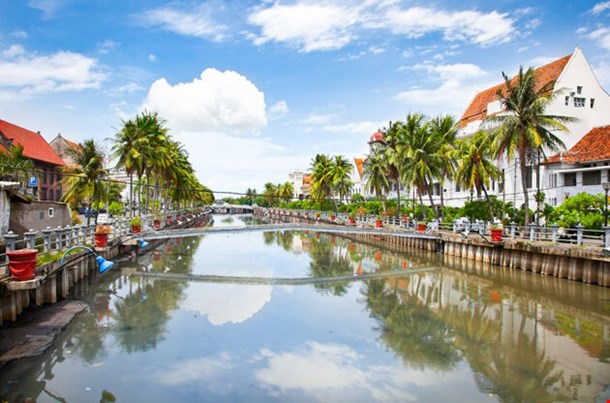 Jakarta Old Town Along The Smelly River Java Island Indonesia