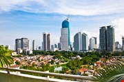 Panoramic Cityscape Of Indonesia Capital City Jakarta At Suny Day-Panoramic Cityscape Of Indonesia Capital City Jakarta At Suny Day