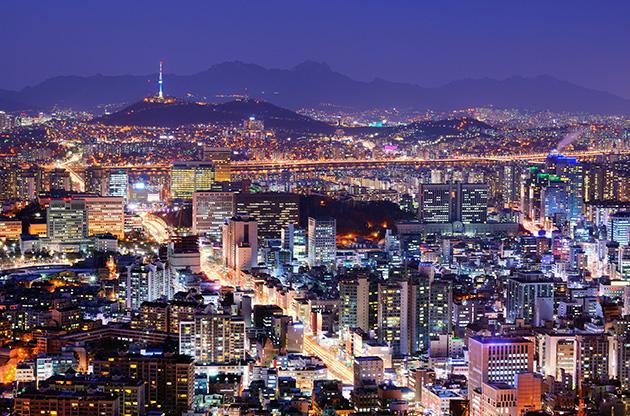 downtown-skyline-of-seoul-Downtown Skyline Of Seoul