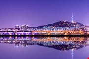 namsan-mountain-and-seoul-tower-Namsan Mountain And Seoul Tower