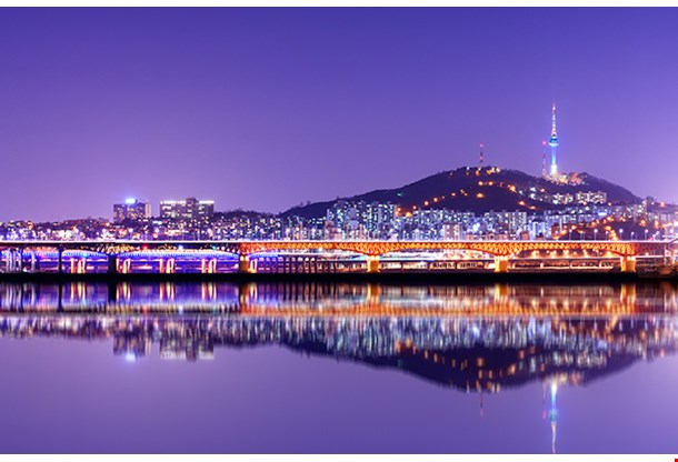 Namsan Mountain And Seoul Tower
