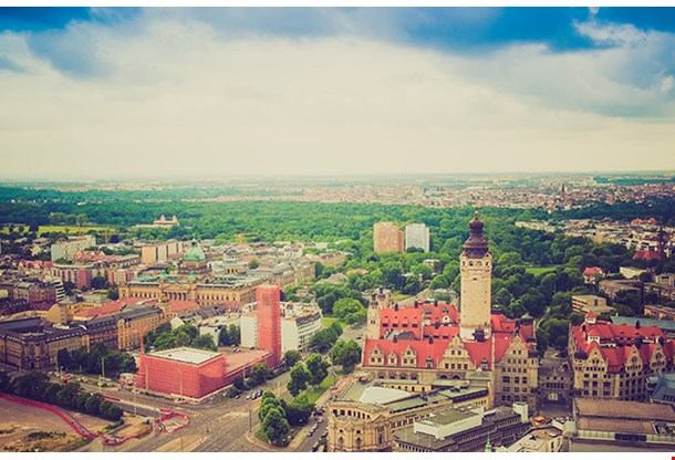 Aerial View Of The City Of Leipzig In Germany