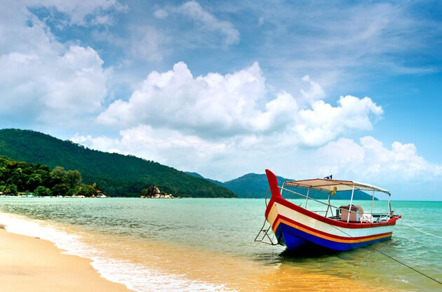 Beach Scene In Penang Malaysia-Beach Scene In Penang Malaysia