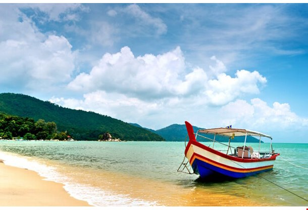 Beach Scene In Penang Malaysia