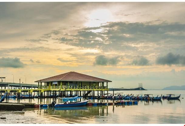 Boats At George Town Penang